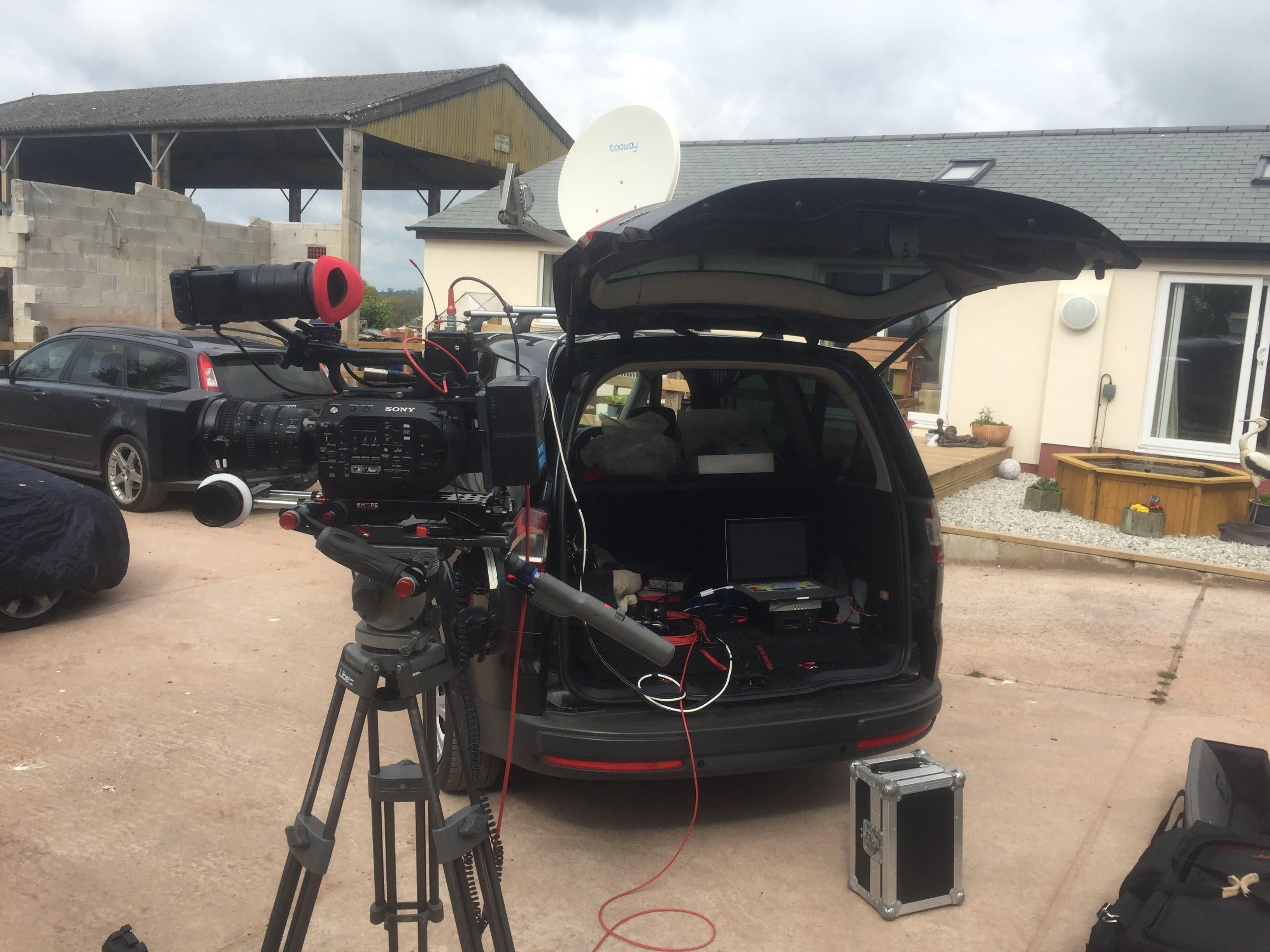 Live TV news Via KA Band Satellite and LiveU